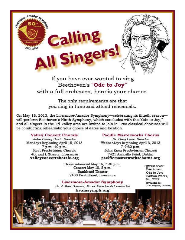 chorus recruitment flyer