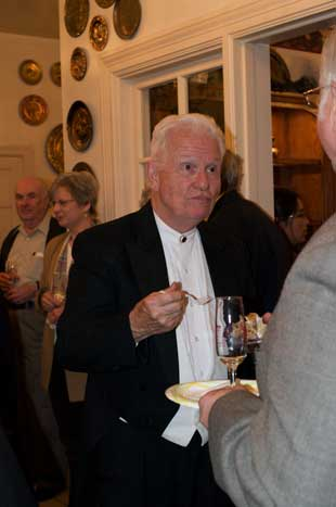 photo of Arthur Barnes at birthday-party reception
