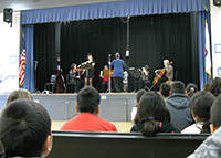 Junction Avenue School assembly performance