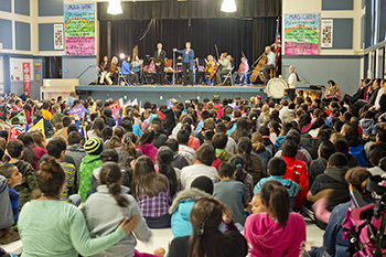LAS at a Livermore school assembly