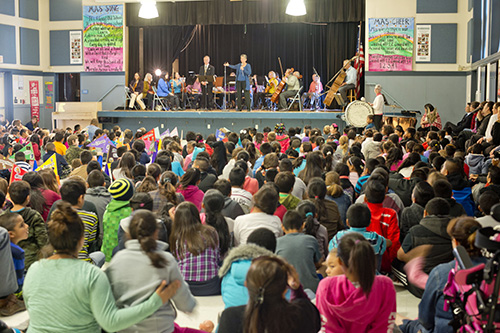 Marilyn Avenue Elementary assembly