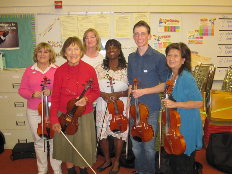 photo of some LAS viola players